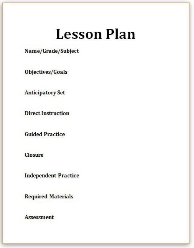 Here's What You Need to Know about Lesson Plans | Key, Lesson plan ...