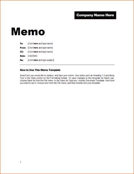 10+ example memo   Memo Formats