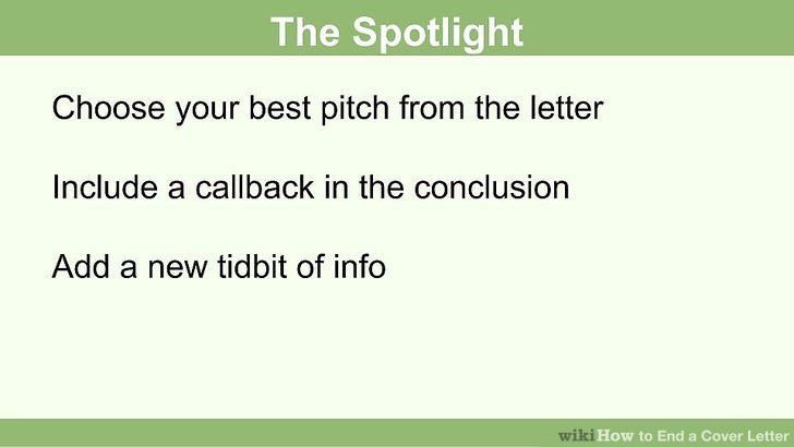 How to End a Cover Letter: 15 Steps (with Pictures) - wikiHow