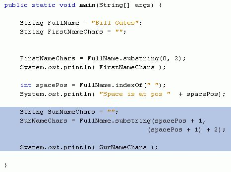 Java For Complete Beginners - substring