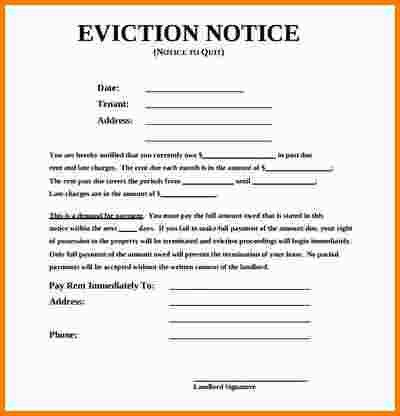 8+ eviction notice sample | nypd resume