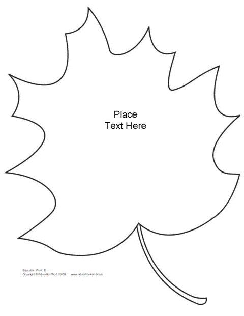Education World: Leaf Shapebook (Unlined) Template (PDF)