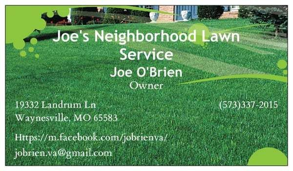 Joe's Neighborhood Lawn Service - Home Services - 19332 Landrum Ln ...