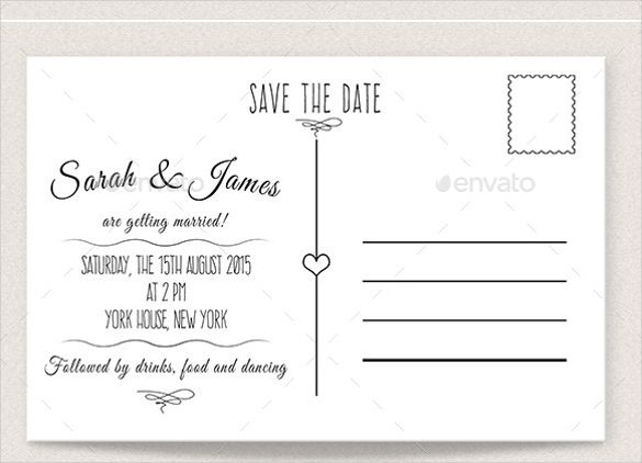 Save The Date Postcard Template | Template Design