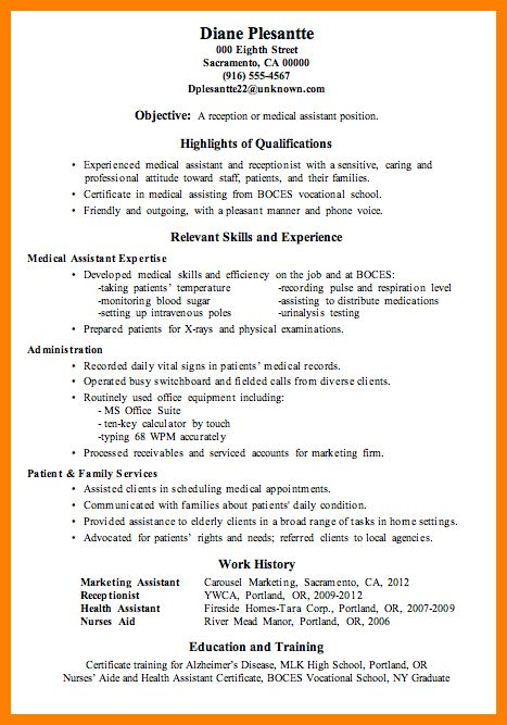 9+ medical assistant qualifications resume | job resumed