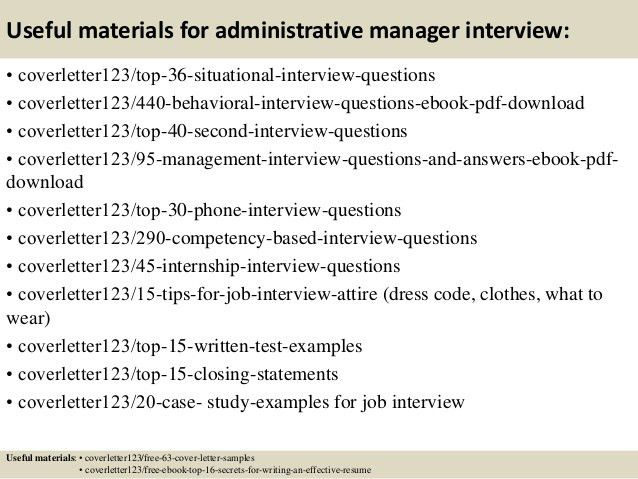 Top 5 administrative manager cover letter samples