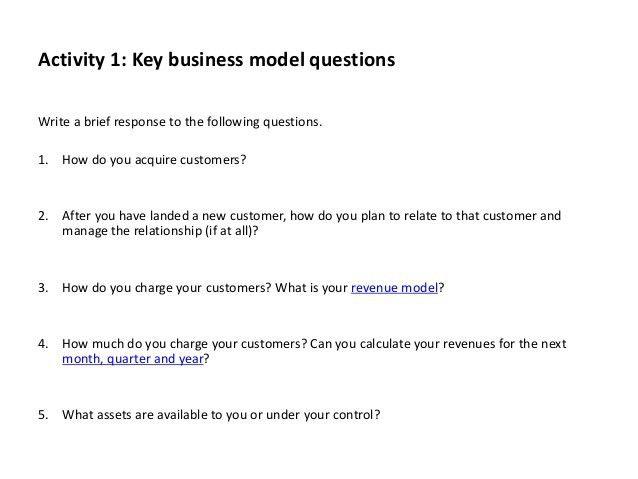 Business model-process-workbook template