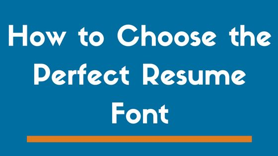 Top 8 Best Fonts to Use on a Resume in 2017 | And 3 to Avoid - ZipJob