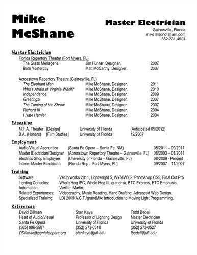 sample resume electrician electrical engineering sample resume - Sample Resume Electrician