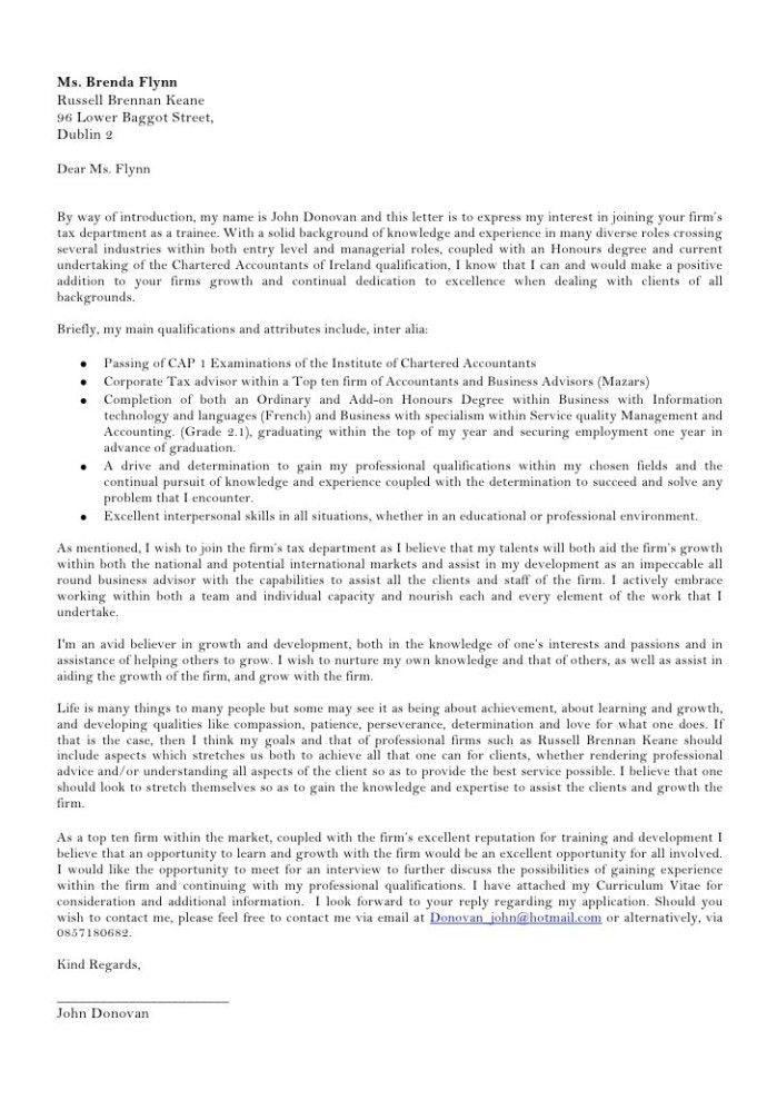 Tax Economist Cover Letter