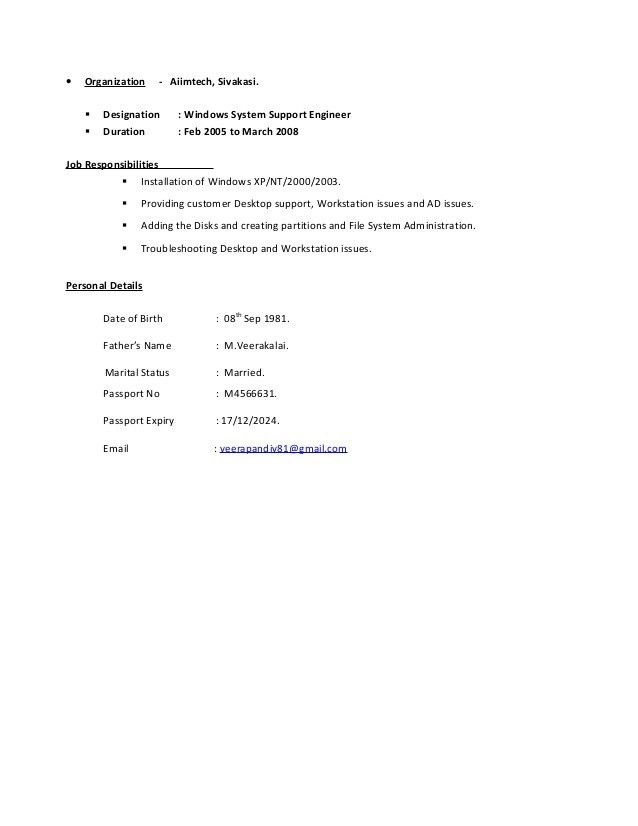 Veerapandi _Unix System Engineer (Linux,SolarisAIX ) Resume Latest