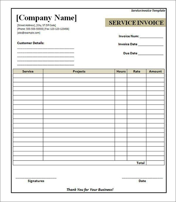 10 Best Images of Free Service Invoice Template - Free Printable ...
