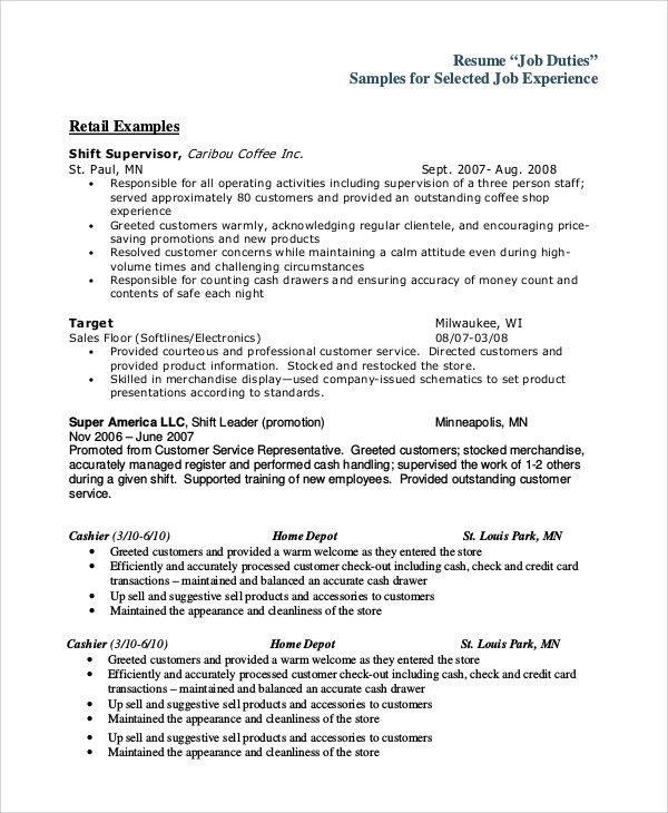 Sample Cashier Job Dutie - 7+ Documents in Word, PDF