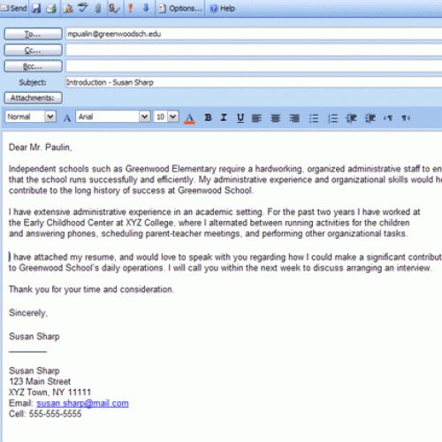 email cover letter for job application samples with cover letter ...