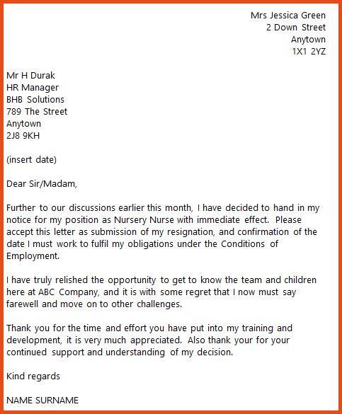 Nursing Resignation Letter.nursery Nurse Resignation Letter.png ...