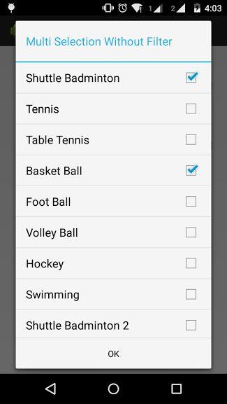 Android Multiple Selection Spinner Item Filteration - Pratik ...