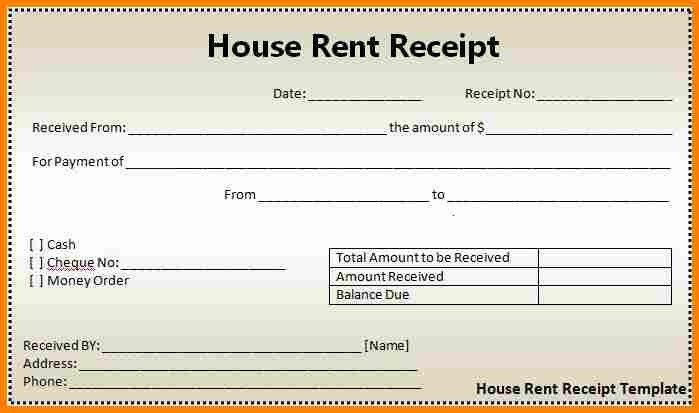 5+ free printable rent receipts | budget template