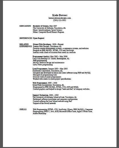 making a resume help. show me sample resume nonsensical resume ...