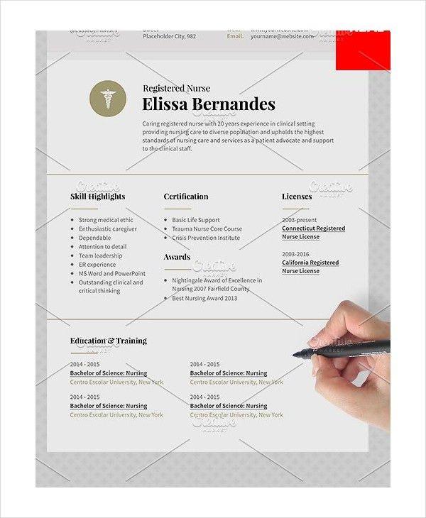 11+ Nurse Resumes - Free Sample, Example, Format | Free & Premium ...