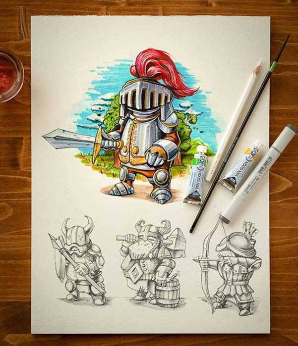Amazing Character Design & Sketches by Mike -