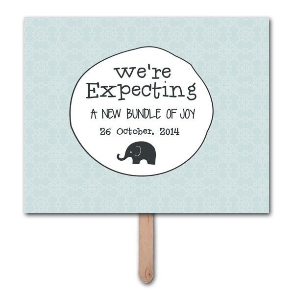 We're Expecting Pregnancy Announcement Photo Prop Template |