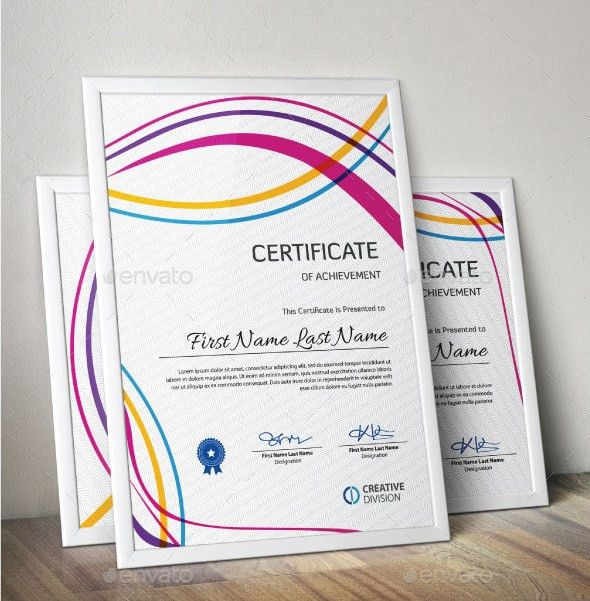 Achievement Certificate Templates | Creative Template | Creative ...