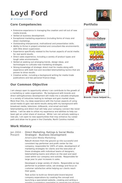 Social Media Strategist Resume samples - VisualCV resume samples ...