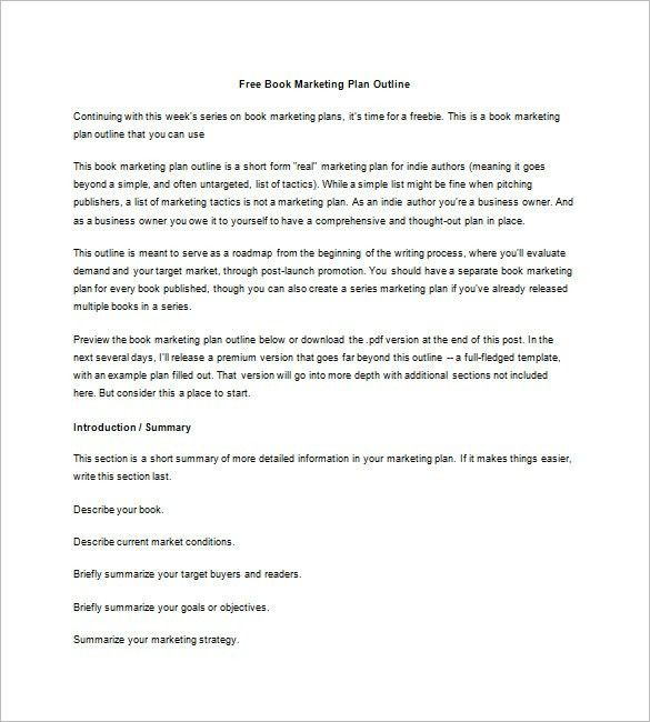 Book Marketing Plan Template – 8+ Free Sample, Example, Format ...