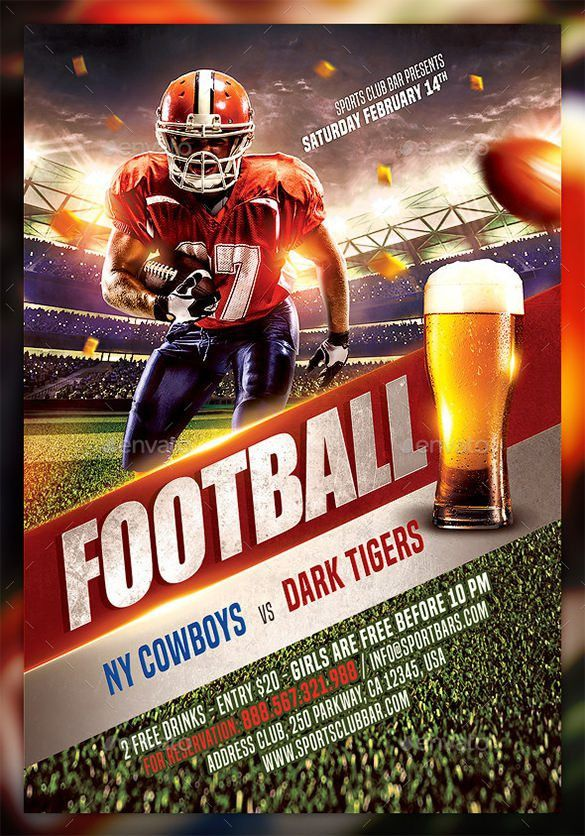 20+ Football Flyer Templates – Free PSD, EPS, AI, InDesign, Word ...