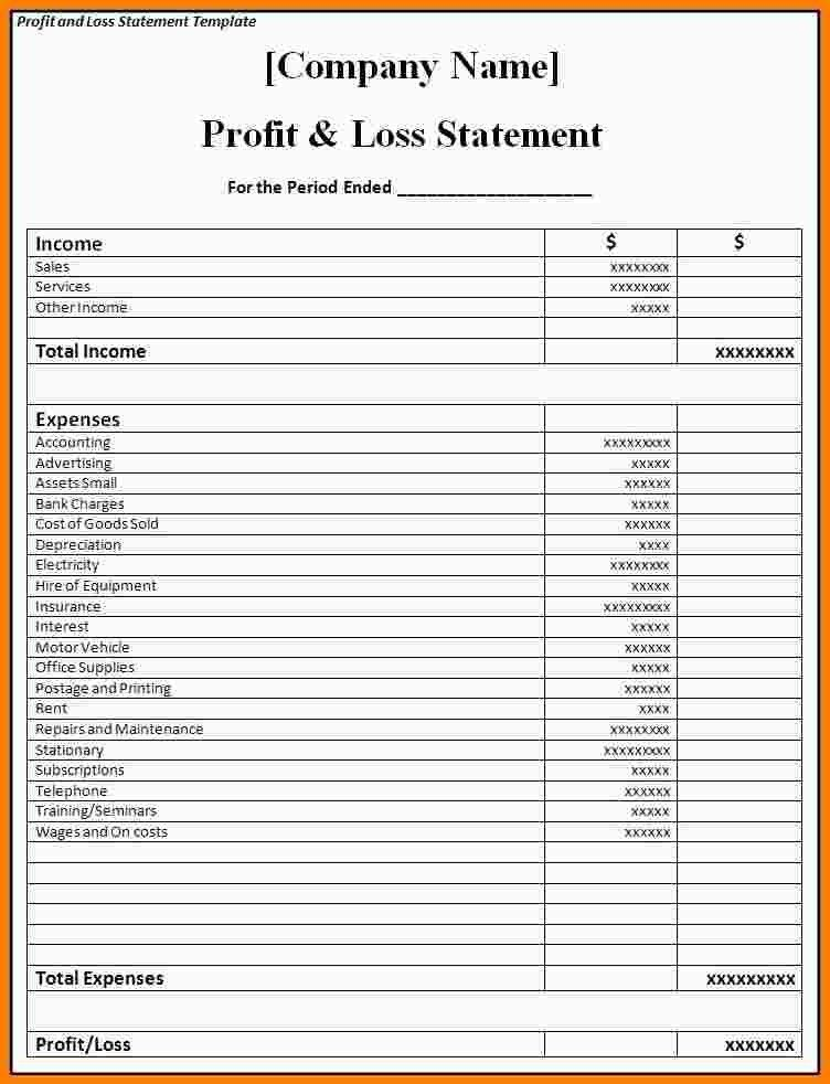 Sample Profit And Loss Statement. Sample Profit And Loss ...