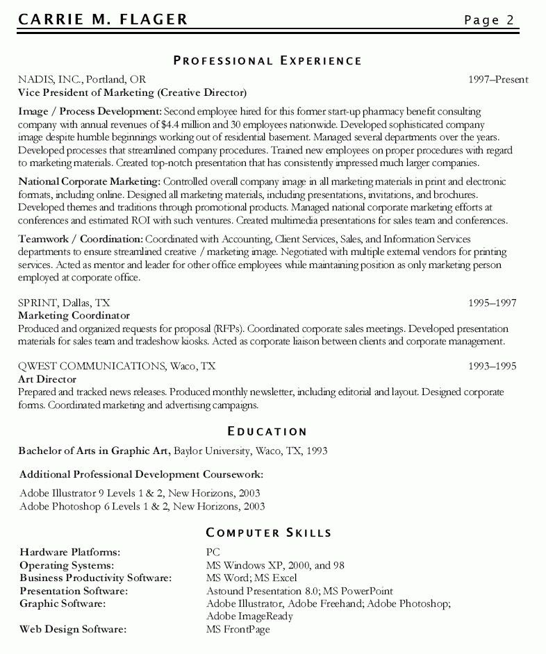 Marketing Manager Resume Objective | The Letter Sample