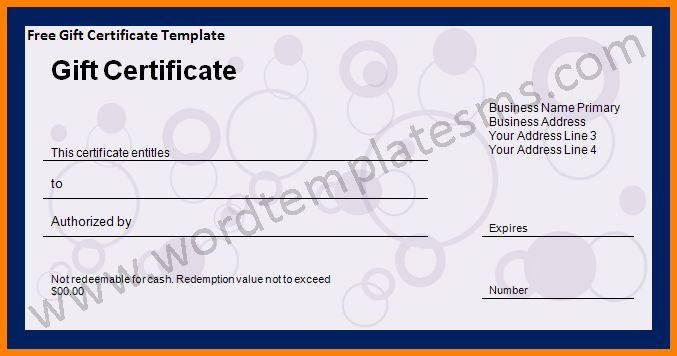 8 Gift Voucher Template Word Free Download Sample Of Invoice