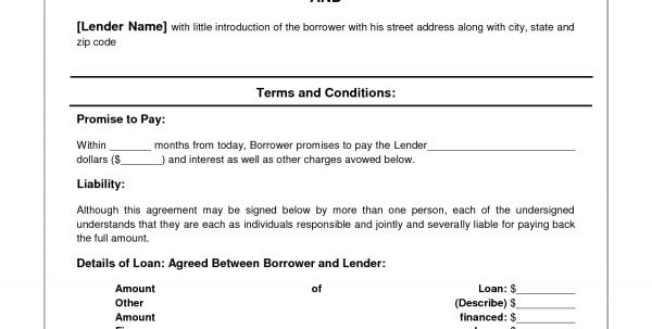 Format Of Loan Agreement Between Two Parties Sample Of Loan ...
