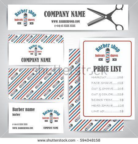 Barber Shop Vector Price List Template Stock Vector 377204692 ...