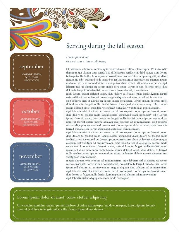 Retro Church Newsletter Template Template   Newsletter Templates