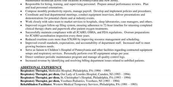Student Respiratory Therapist Cover Letter Respiratory Therapy ...