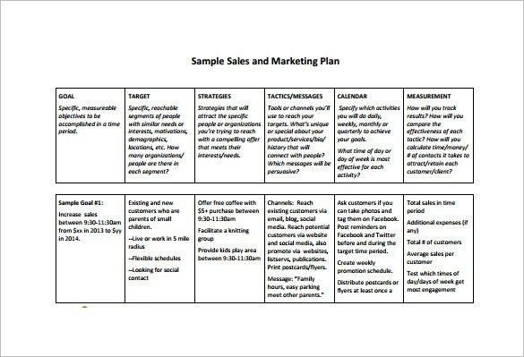 Sales And Marketing Plan Template | Template Idea