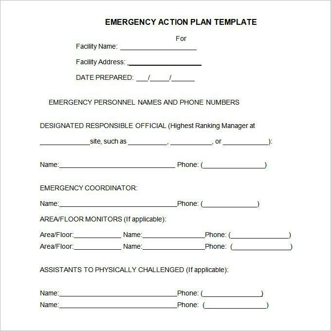 Osha Emergency Action Plan Template | Template Design