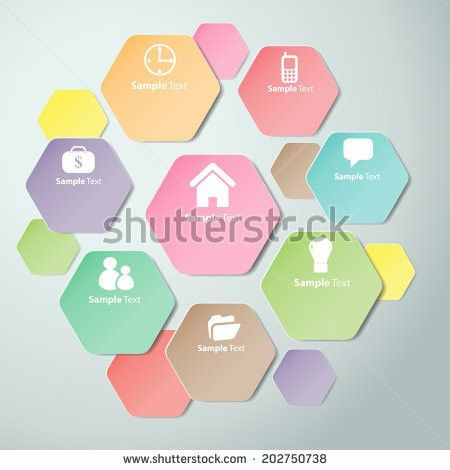 Colorful Polygons Cut Paper Design Template Stock Vector 202750738 ...