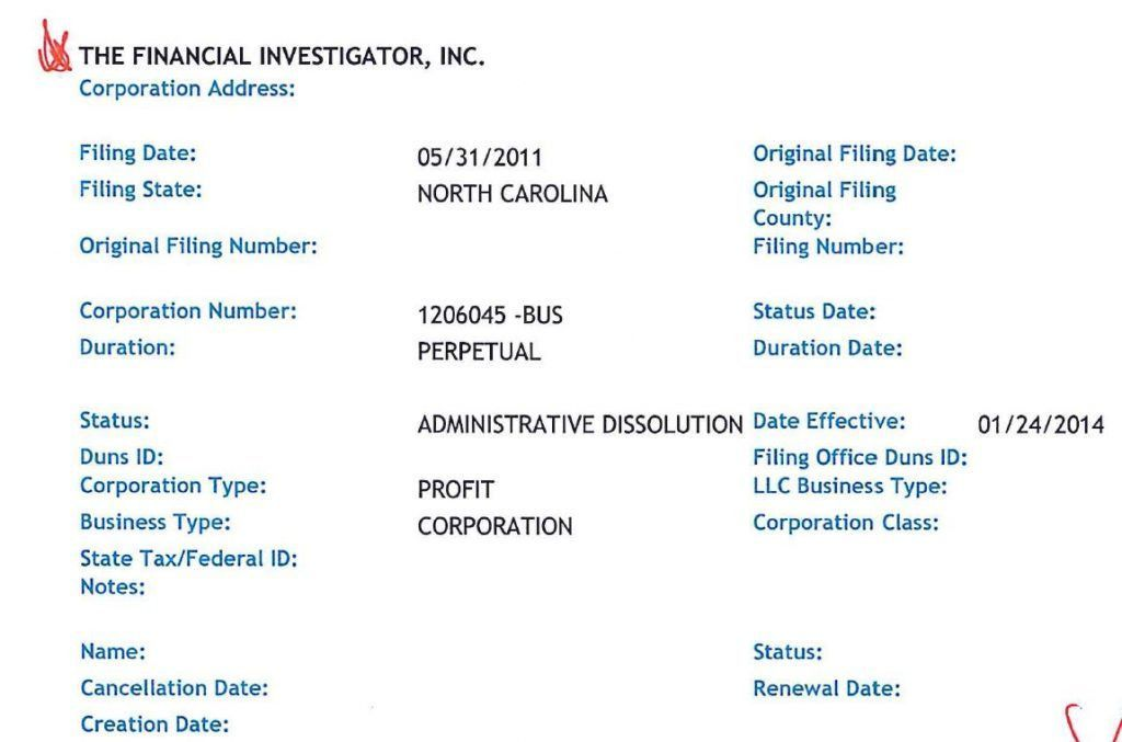 Fraud Southern Investigative Reporting Foundation, Roddy Boyd FBI
