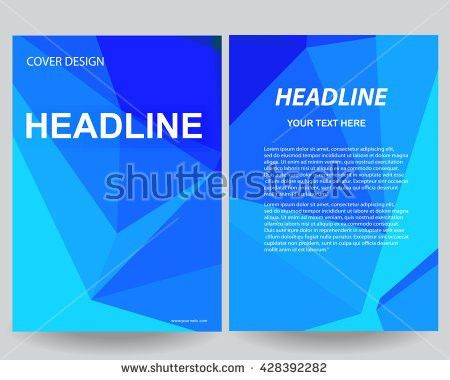 Abstract Blue Flyers Brochure Annual Report Stock Vector 428378956 ...