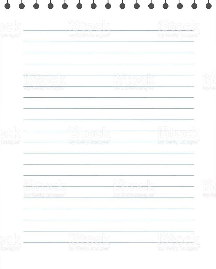 Blank Lined Paper Texture From A Notepad stock vector art ...