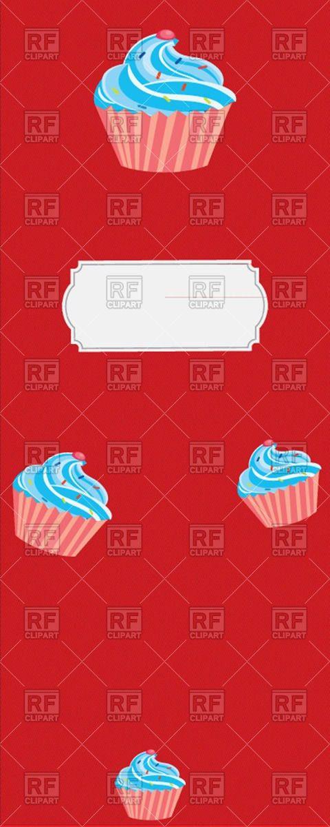 Vertical dessert menu template for cafes Vector Image #50581 ...