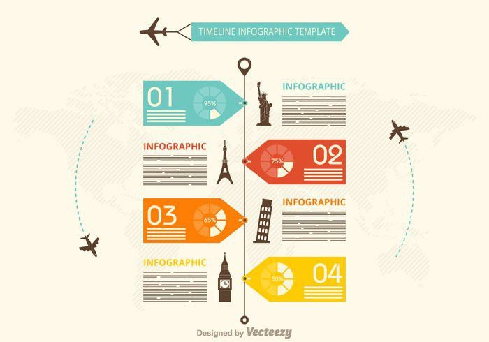 Free Timeline Infography Vector Template - Download Free Vector ...