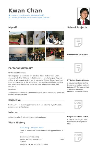 Sales Assistant Resume samples - VisualCV resume samples database