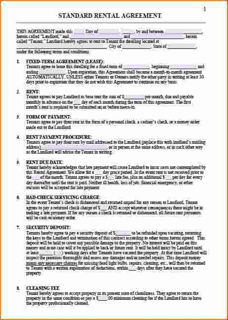 8+ Residential Lease Template   Printable Receipt