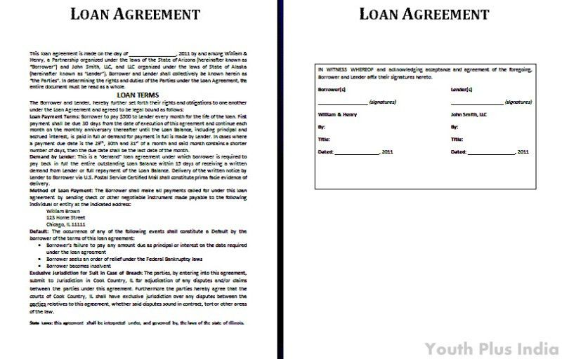 Sample Agreement Letter Between Two Parties Lending Money ...