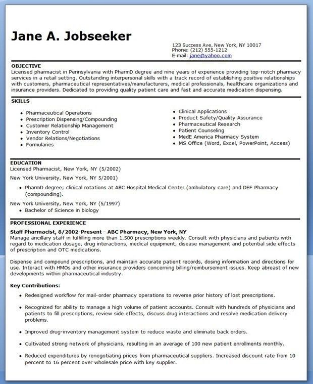 Pharmacy Technician Resume Samples Easy Intended For Objective 25 ...