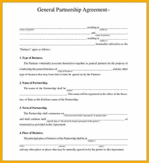 6+ business partnership agreement contract | bursary cover letter