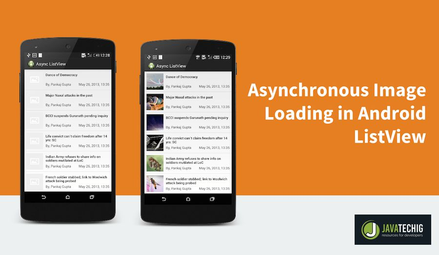 Loading Image Asynchronously in Android ListView | StackTips